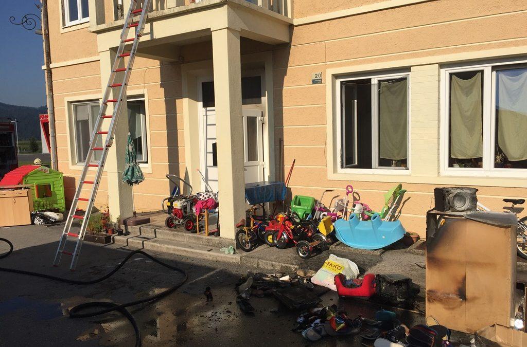 5.8.2016-Požar v stanovanju
