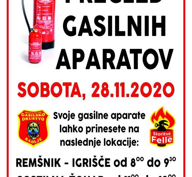 Pregled gasilnih aparatov – 28.11.2020
